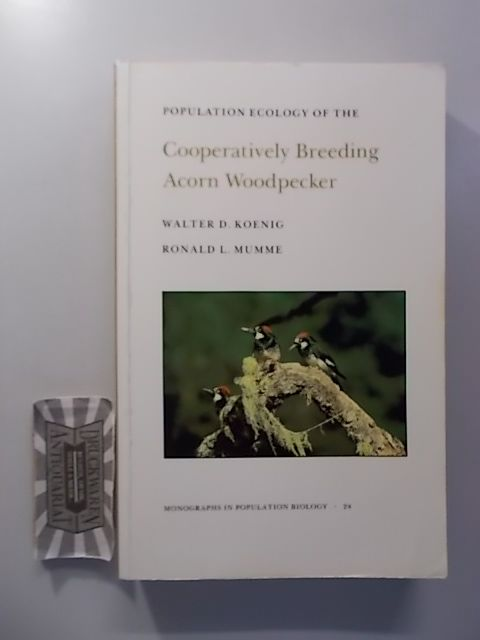 Population Ecology of the Cooperatively Breeding Acorn Woodpecker. Monographs in Population Biology 24. - Koenig, Walter D. and Ronald L. Mumme