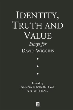 Identity, Truth and Value: Essays in Honor of David Wiggins - Lovibond Williams, Angela