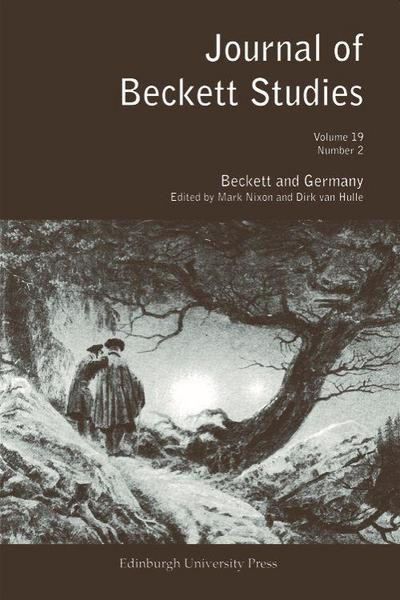 Beckett and Germany: Journal of Beckett Studies Volume 19 Number 2 - Mark Nixon