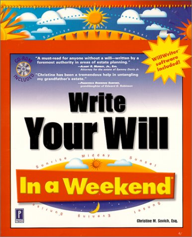 Write Your Will In a Weekend (In a Weekend (Premier Press))