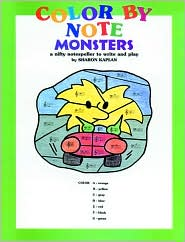 Color by Note Monsters: Coloring Book - Sharon Kaplan