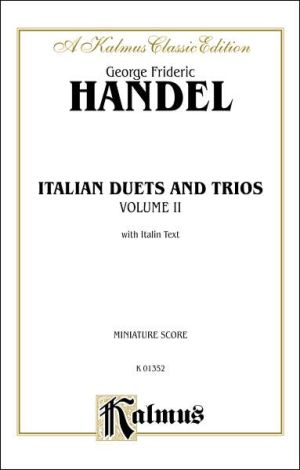 Italian Duets and Trios: Second Edition (Miniature Score), Miniature Score - George Frideric Handel