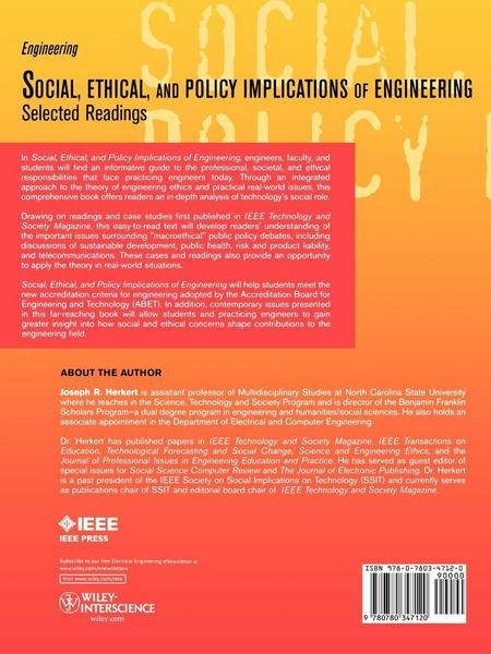 Social Ethical Policy Engineer Readings
