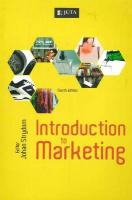 Introduction to Marketing: 4th Edition