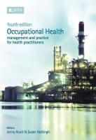 Occupational Health: Management & Practice for Health Practitioners
