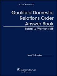 Qualified Domestic Relations Order (Qdro) Answer Book