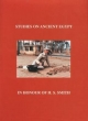 Studies on Ancient Egypt in Honour of H S Smith - Occasional Publications 13 - Leahy