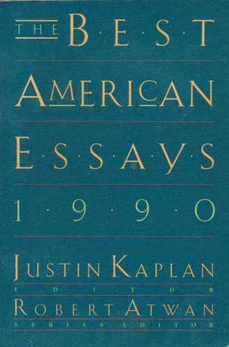 THE BEST AMERICAN ESSAYS 1990.