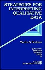 Strategies For Interpreting Qualitative Data - Martha S. Feldman