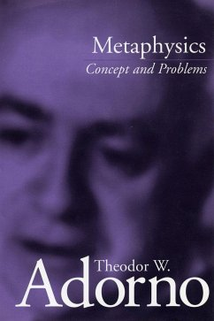 Metaphysics: Concept and Problems - Adorno, Theodor Wiesengrund Theodor, Adorno