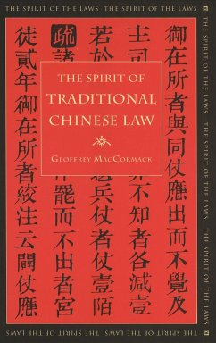 Spirit of Traditional Chinese Law - MacCormack, Geoffrey