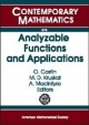 Analyzable Functions and Applications - I.M.D. Kruskal