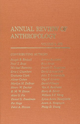 Annual Review of Anthropology: 8