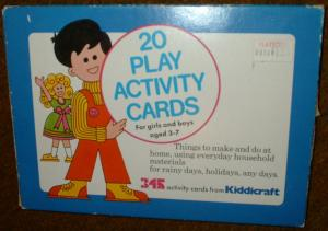 20 Play Activity Cards. For girls and boys aged 3 -7 - 20 Play Activity Cards. For girls and boys aged 3 -7