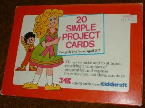 20 Simple Project Cards. For boys and girls aged 3 - 7 - 20 Simple Project Cards. For boys and girls aged 3 - 7