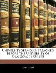 University Sermons - John Caird