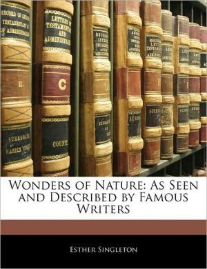 Wonders Of Nature - Esther Singleton