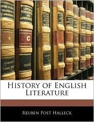 History of English Literature - Reuben Post Halleck