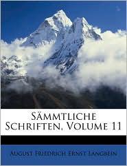 Sammtliche Schriften, Volume 11 - August Friedrich Ernst Langbein