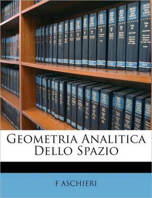 Geometria Analitica Dello Spazio