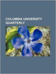 Columbia University Quarterly - Books Group