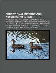Educational Institutions Established In 1826