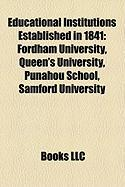 Educational Institutions Established in 1841: Fordham University