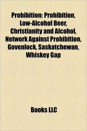 Prohibition - Books Llc