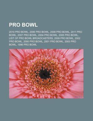 Pro Bowl - Books Llc