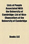 Lists of People Associated with the University of Cambridge: List of Vice-Chancellors of the University of Cambridge