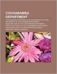 Cochabamba Department - Books Llc