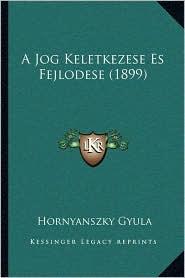 A Jog Keletkezese Es Fejlodese (1899)