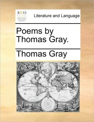 Poems by Thomas Gray. - Thomas Gray