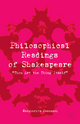 Philosophical Readings of Shakespeare - M. Pascucci