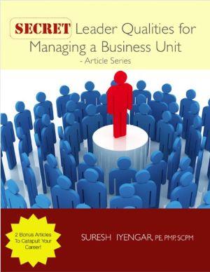 Secret Leader Qualities for Managing a Business Unit