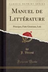 Manuel de Litterature - J Verest