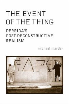 The Event of the Thing: Derrida's Post-Deconstructive Realism - Marder, Michael