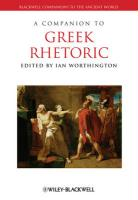 Companion to Greek Rhetoric