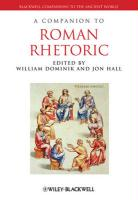 Companion to Roman Rhetoric