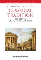 Companion to the Classical Tradition