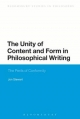 Unity of Content and Form in Philosophical Writing - Jon Stewart