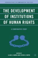 The Development of Institutions of Human Rights: A Comparative Study