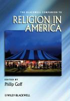 The Blackwell Companion to Religion in America