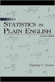Statistics in Plain English - Timothy C. Urdan