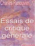 Essais de critique générale - Charles Renouvier