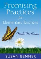 Promising Practices for Elementary Teachers: Make No Excuses!