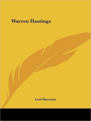 Warren Hastings - Lord Macaulay