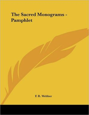 Sacred Monograms - Pamphlet