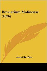 Breviarium Molinense (1826) - Antonii De Pons