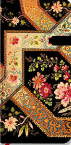 Lyon Floral Filigree Floral Ebony Slim Lined - The Paperblanks Book Company